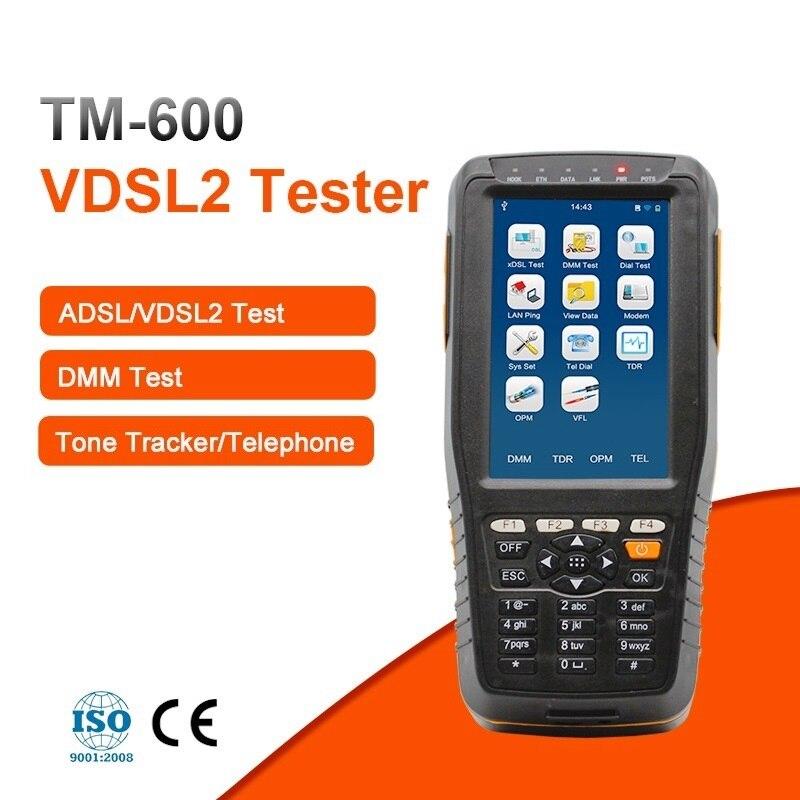 TM-600 VDSL2 testeur ADSL WAN et LAN testeur xDSL Test de ligne avec fonctions de suivi de tonalité