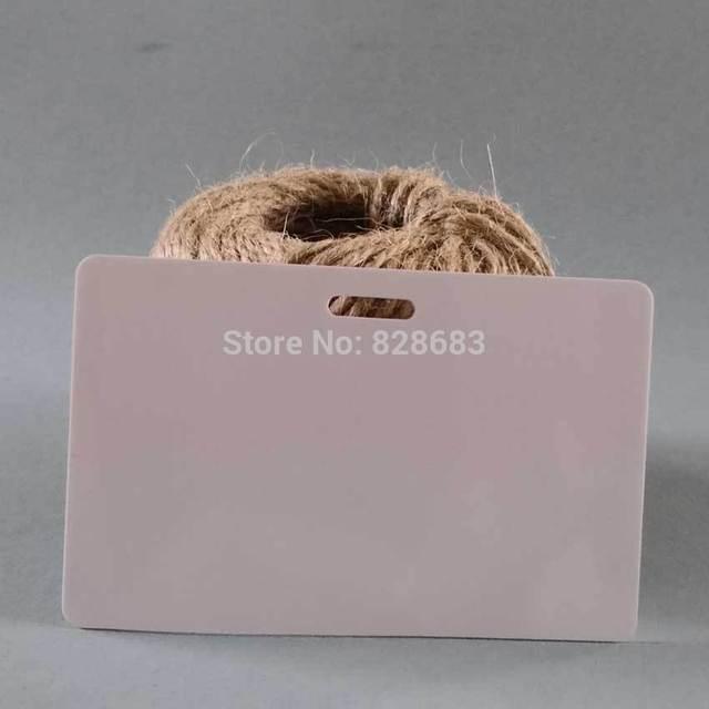 Пустой кредитной карты белые пустые пластиковые карты с отверстием