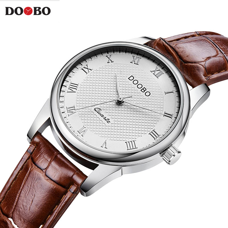 DOOBO Business Quartz Watch Men Watches Top Brand Luxury Famous Male Clock Leather Wristwatch For Man Hodinky Relogio Masculino new top brand luxury clock women watch men watches famous wristwatch big dial male clock quartz watch relogio masculino