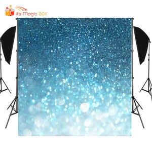 LIFE MAGIC BOX Blue Photography Background for Studio Photobox Wedding Photo Backdrops(China)