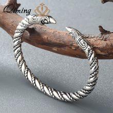 Viking Charm Armband Männer Indische Religiöse Schmuck Nordic Gothic Kupfer Manschette Armbänder Armreifen Frauen Armband Mann Armreif