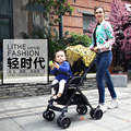 Colorful baby stroller high landscape light folding stroller portable BB umbrella pram shock can lay a baby cart
