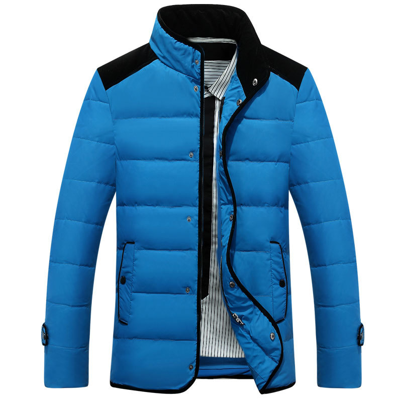 Winter Jacket Men Famous Brand-clothing 2017 Down Parka Stand Collar Down Jacket Outwear Casual Outwear Coat