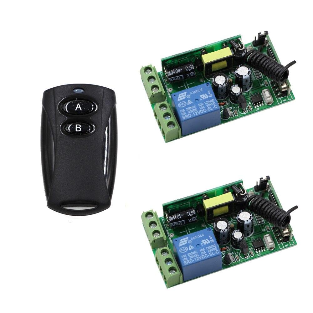AC 85V 110V 220V 250V Wireless Remote Control Switch10A Relay Switch 2*Receiver and Black Transmitter For Lamp/Light LED ON OFF double 4 color bulk ink system for mimaki jv33 jv5 jv3 printer 4 tanks 8 cartridge