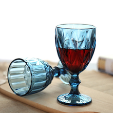 3pcs/set Vintage color embossed wine glass creative juice goblet red cup Whiskey champagne Home wedding drink