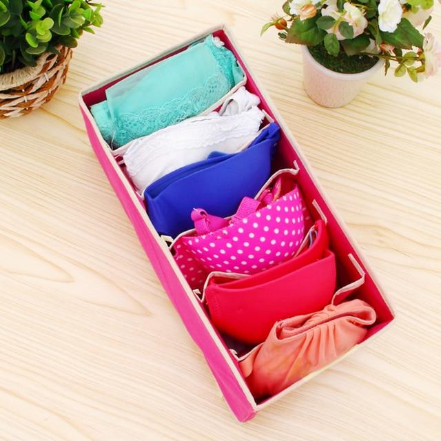 Multi-size Bra Underwear Organizer Foldable Home Storage Box Non-woven Wardrobe Drawer Closet For Scarfs Socks 2