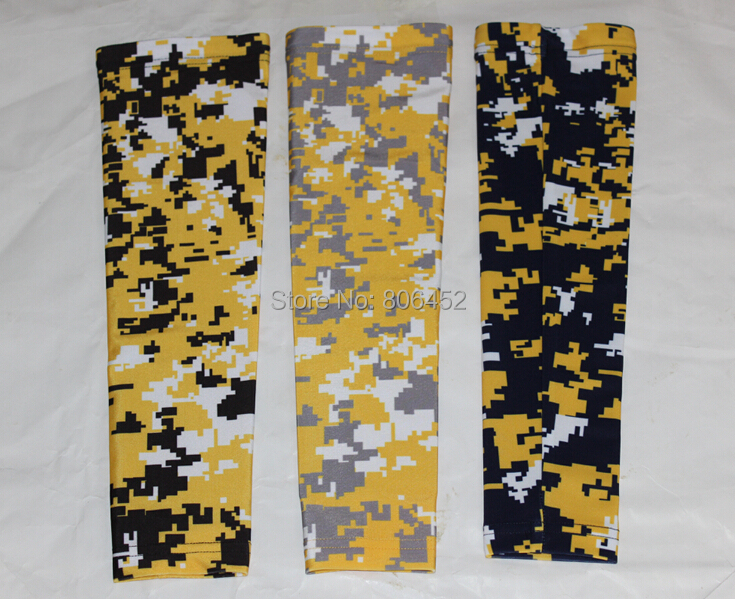 Straightforward Yellow/black/white Digital Camo Sleeve Sports Sleeve Arm Sleeve Digital Camo Design In Various Colors Bike Riding Sleeve Factory Direct Selling Price