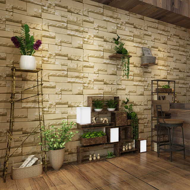 3D Stone Brick Wall Wallpaper For Walls Roll Home Wall Decorations ...