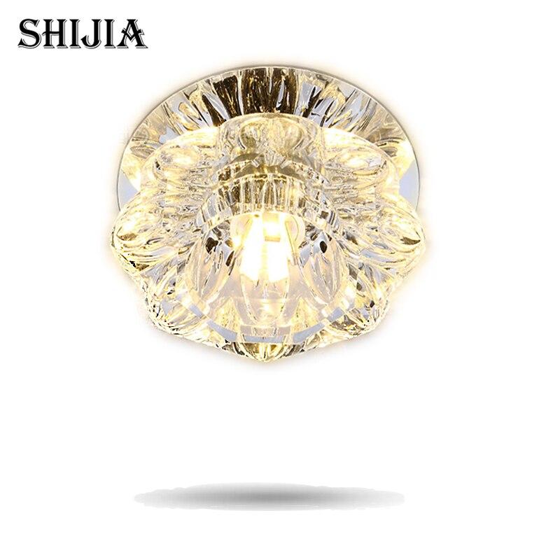 Luzes de Teto baixo de cristal mordern superfície Marca : Shijia