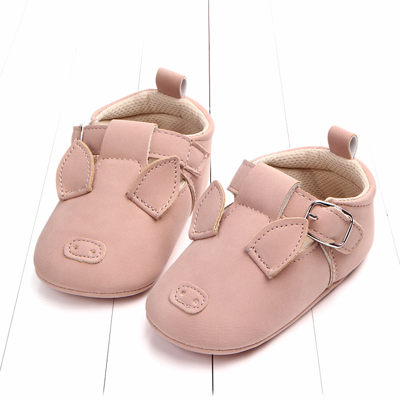 Baby First Walkers Matte leather Shoes for Baby Girl Boy Cartoon Animal Newborn Slippers Footwear Booties Kids Gift Child Shoes (21)
