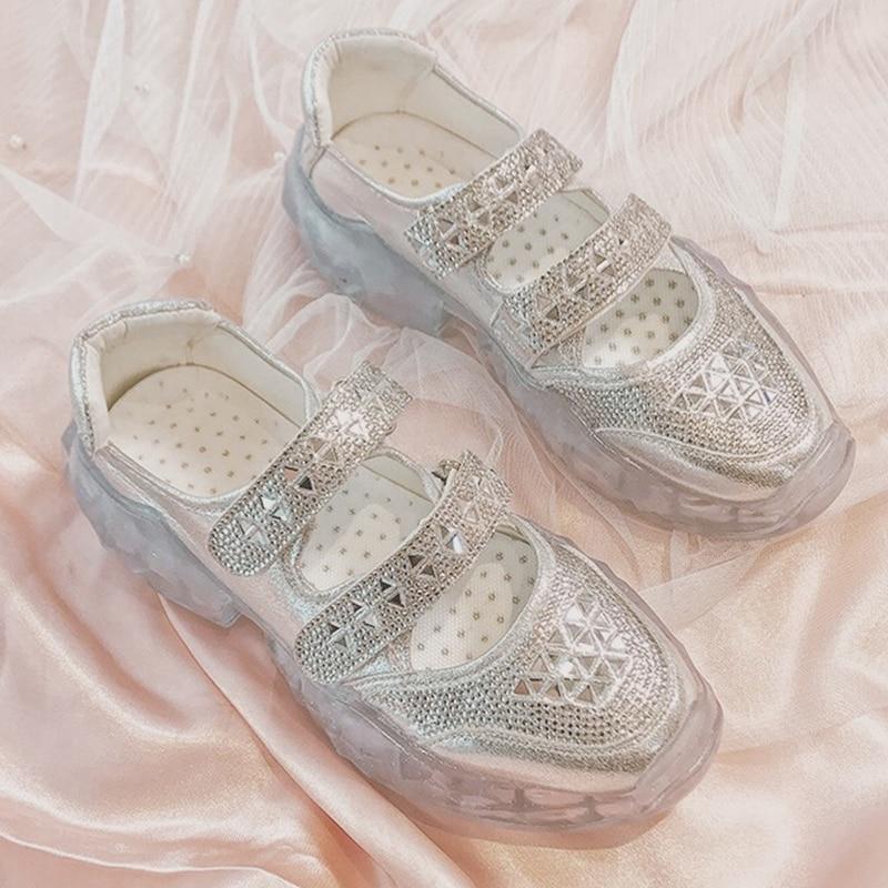 Designer Glitter Rhinestone Sneakers Women Platform Sneakers 2019 Basket femme Women Sneaker Casual Shoes Woman chaussures femme