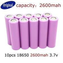 Pçs e lote Original Novo 18650 3.7 V Li-ion Recarregável Bateria 2600 MAH Frete Grátis
