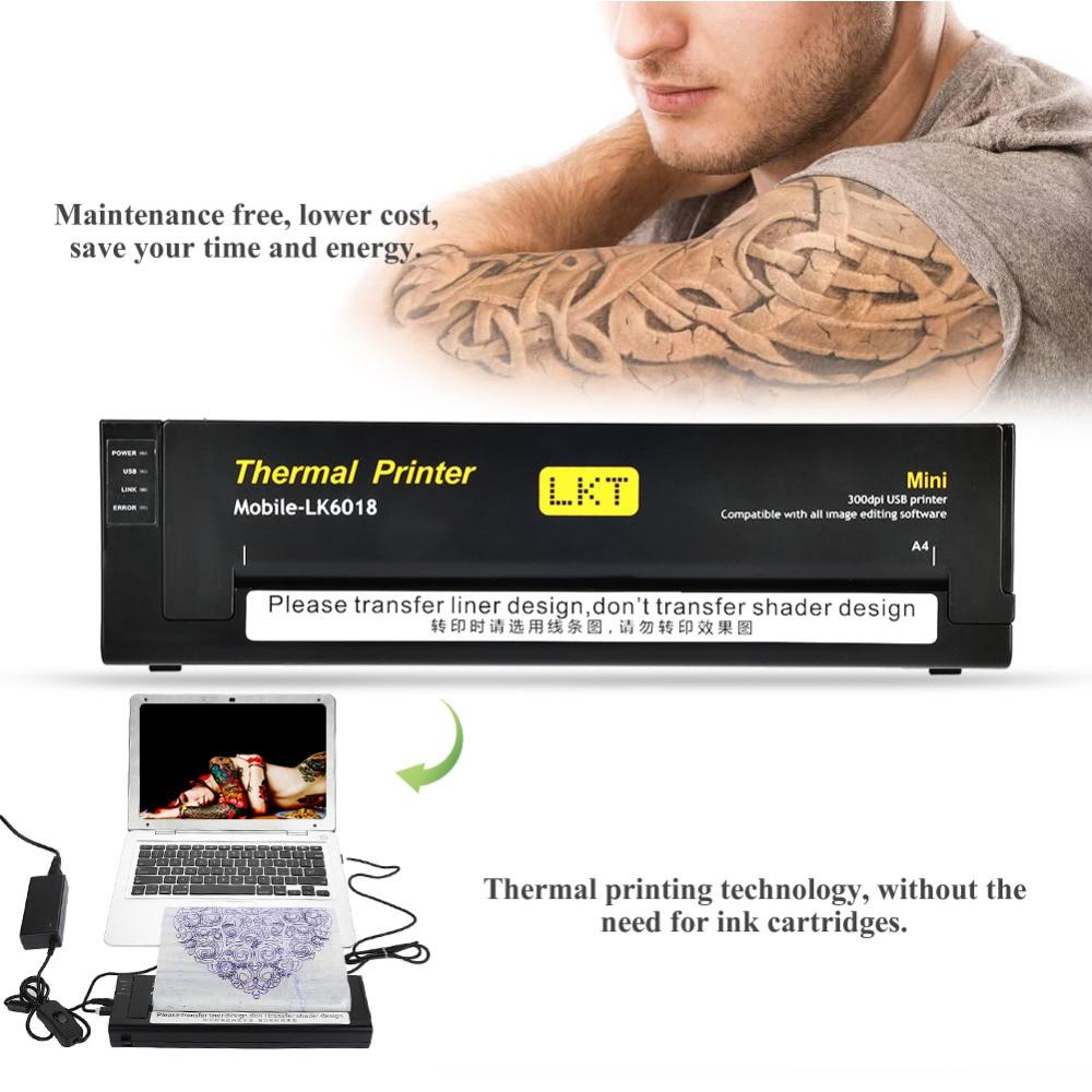 Professional USB Port Mini Tattoo Thermal Copier machine Tattoo Printer Drawing Thermal Stencil Tattoo Transfer Machine newest printer tattoo copier printer tattoo mini transfer machine thermal stencil paper