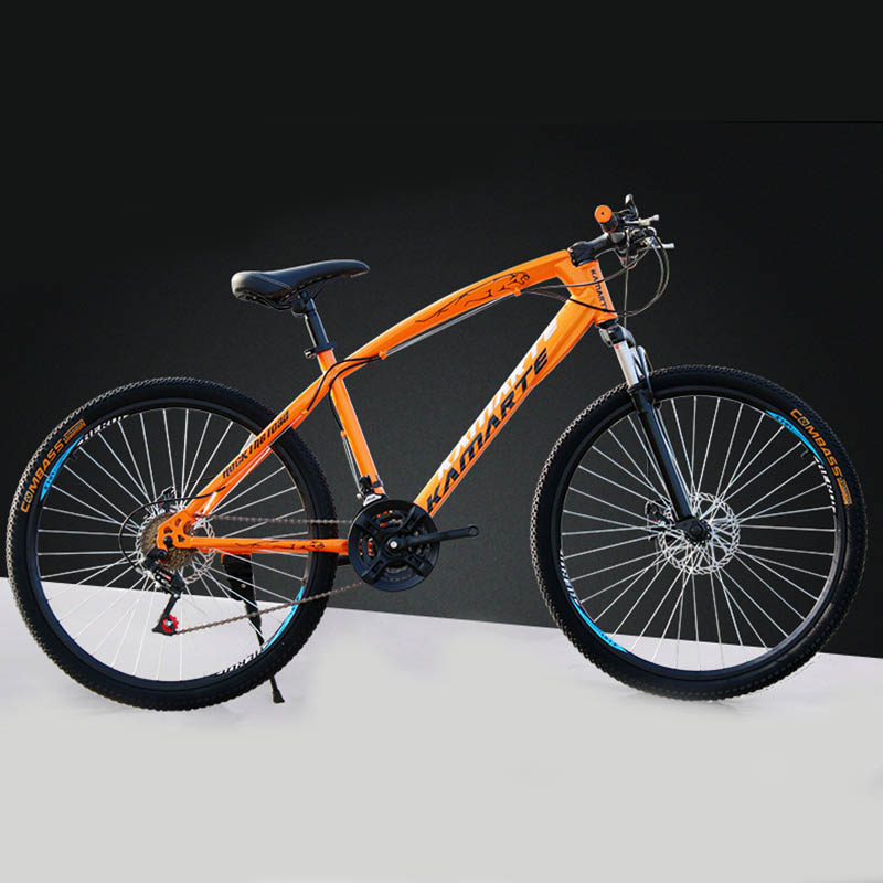 2017 New Style Mountain Bike Rappelling Mountain Bike Aluminum Frame 24/26 Double Hydraulic Disc Bicycle Racing Essential