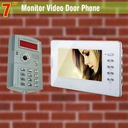 7 color Monitor video door phone System video intercom doorbell ID password Unlocking doorbell intercom doorphone for villa