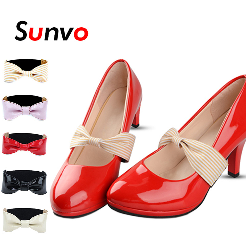 Sunvo Detachable Bow Shoe Straps Shoelaces Band Belts For Holding Loose High Heeled Shoes Decoration No Tie Shoelace Lazy Laces