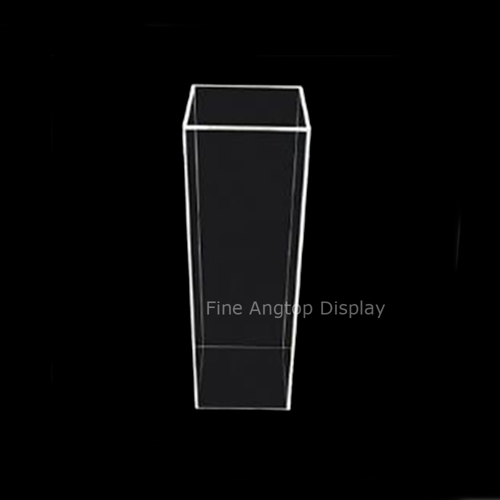 Small 5-Sided Acrylic Pedestal Stand Column Pillar Jewelry Display Box