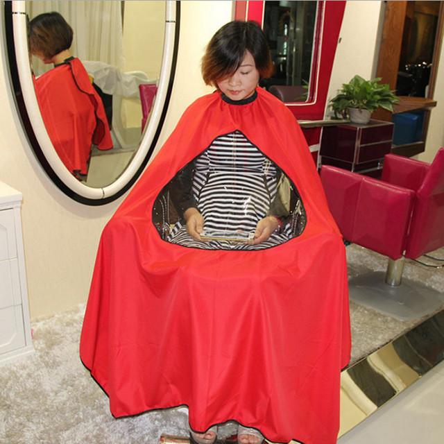 Adultos Peluquería Peluquería Del Corte Del Pelo Champú Transparente Cubierta Estilo Del Vestido Barberos Cabo Cloth Corte de Pelo Delantal de Tela