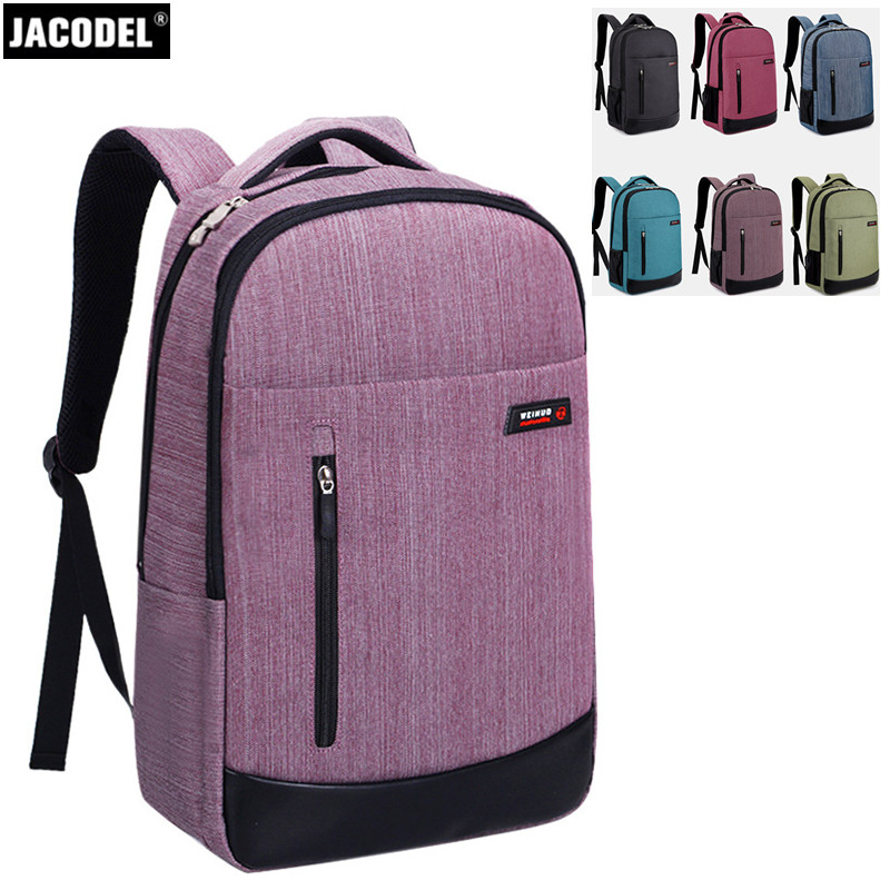 все цены на Jacodel Unisex Laptop Bag for 17 15 14 inch Laptop Backpack Waterproof Canvas Cloth Bag New School Student Backpack 17 inch Bags онлайн