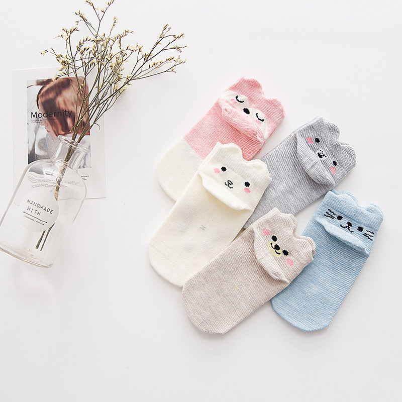 Children's Socks Boys And Girls Cotton Socks Summer Personality Followed By Three-dimensional Cartoon Animal Sock