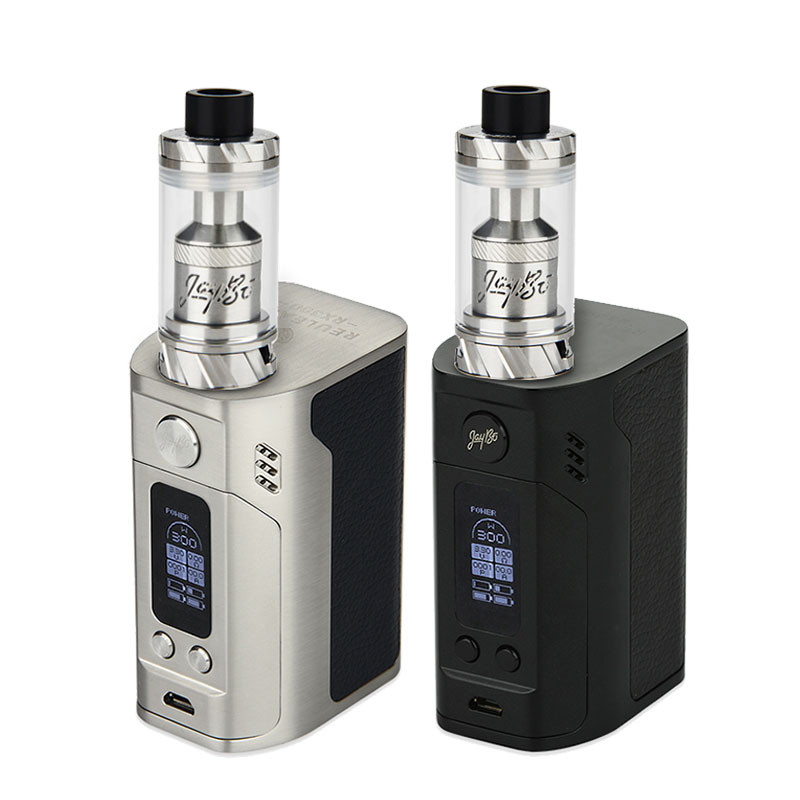 Original 300W WISMEC RX300 TC Kit w/ Reux Atomizer 6ml Powered by 4x 18650 battery VS only RX300 TC BOX Mod Electronic cig termica ah 6 300 tc
