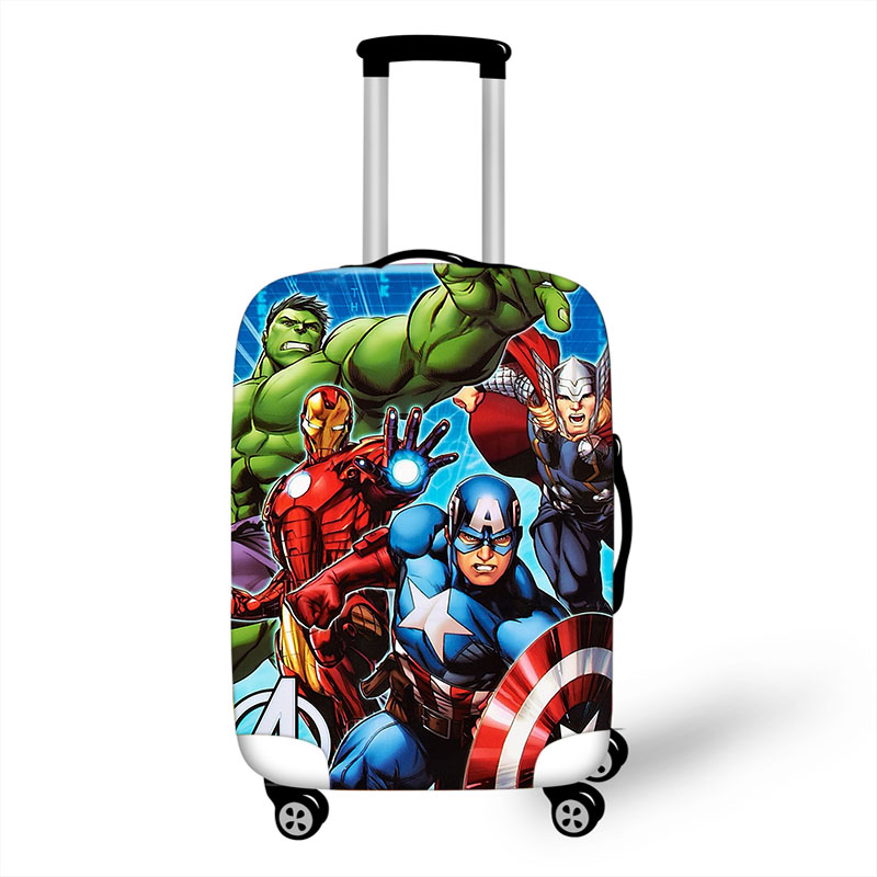 18''-32'  Superhero Hulk Iron Man Thick Luggage Cover Accessories Elastic Suitcase Cover Travel Trolley Case Protective Covers