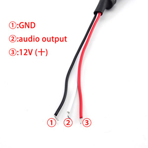 Mini Sound Monitor Audio Pickup Device CCTV Microphone System CCTV Surveilance Device DC Power Cable Camera Micro