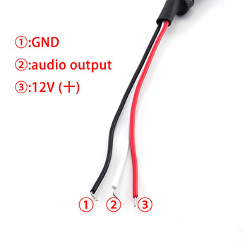 Mini Sound Monitor Audio Pickup Device CCTV Microphone System CCTV Surveilance Device DC Power Cable Camera Micro 1