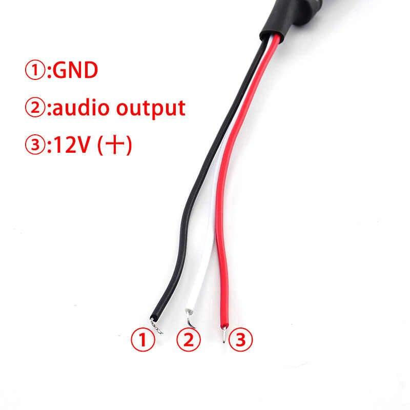 Suara Monitor Audio Mobil Perangkat CCTV Sistem Mikrofon CCTV Pemantauan Perangkat DC Power Kabel Kamera Micro