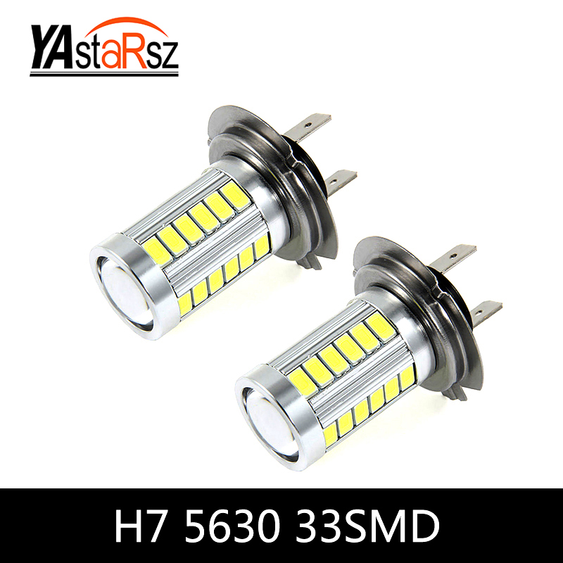 2x H7 Super Bright Fog Light Headlight Bulb 12W Head Lamp Light car styling car light source parking Daytime Running Light DRL new arrival canbus p6 car led head lamp conversion kit bulb 4500lm 2 9000lm led headlight super bright 45w 2 90w car styling