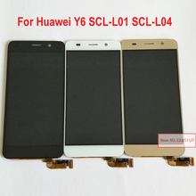 Black/White/Gold Full LCD Display Touch Screen Digitizer Assembly For Huawei Honor 4A Y6 SCL-L01 SCL-L04 Repair Parts