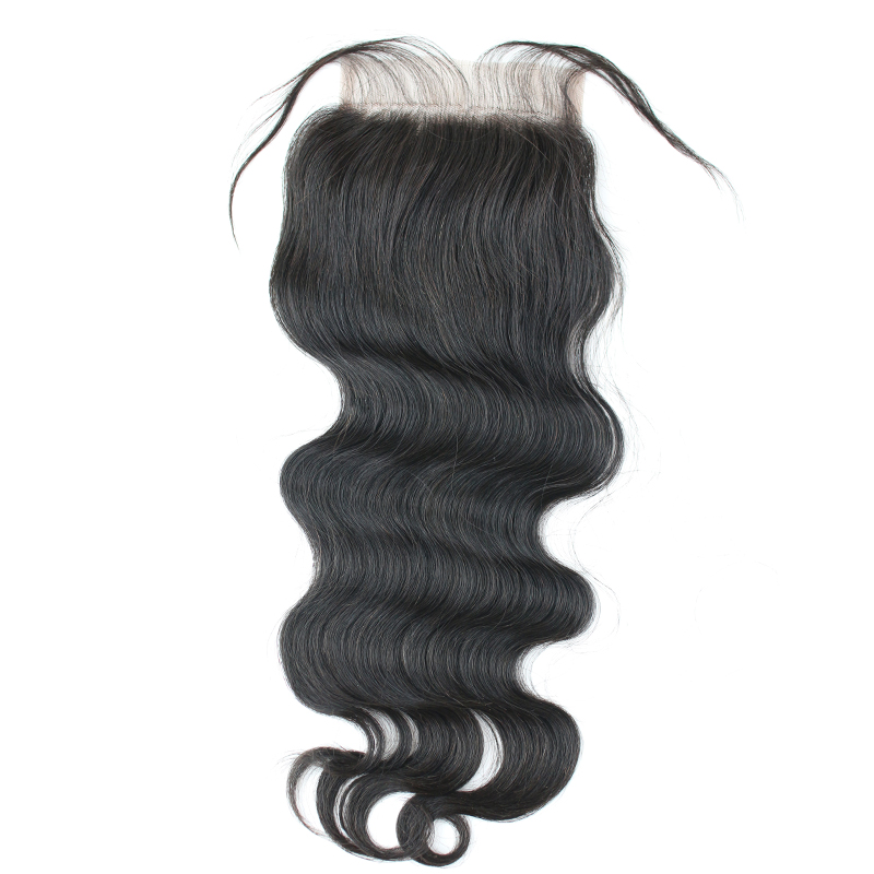Eseewigs Body Wave Bundles With Closure Remy Human Hair Weave Extension With 4x4 Lace Closure For Black Women 3 Bundles Wet Wavy