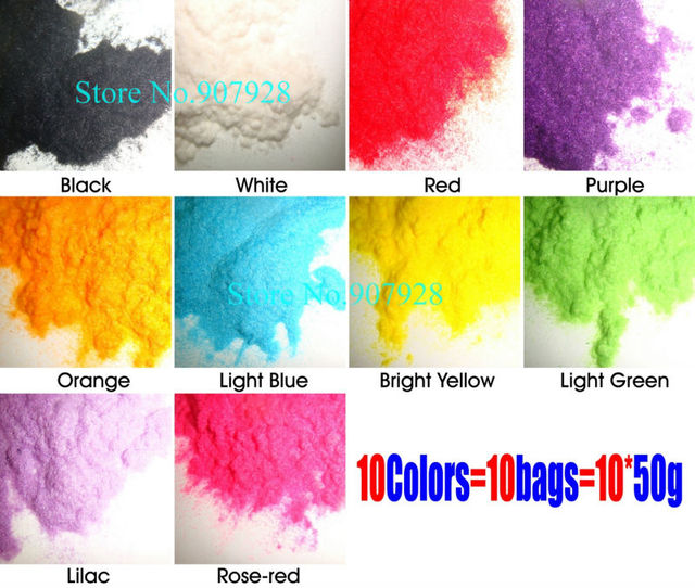 50g/bag x 10Colors 3D New Nail Art Flocking Velvet Powder Villus Powder-Free Shipping Wholesale