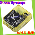 Register free shipping KBAR MINI K-BAR  YELLOW K8 three-axis gyroscope 3 Axis Gyro Flybarless PK VBAR B8 For Mikado VBAR Trex