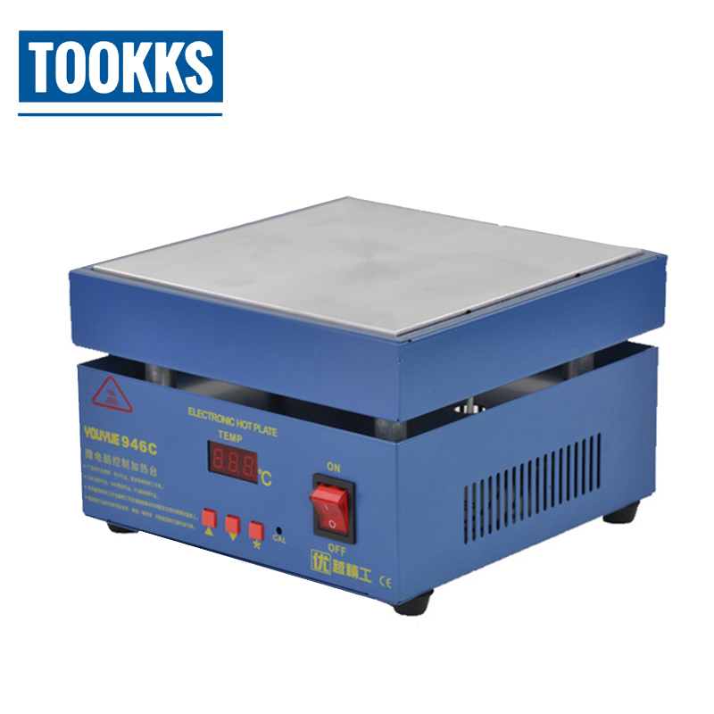 Electronic Hot Plate Preheat LCD Digital Display Preheating Station For PCB  SMD Heating Phone LCD Touch Screen Separate