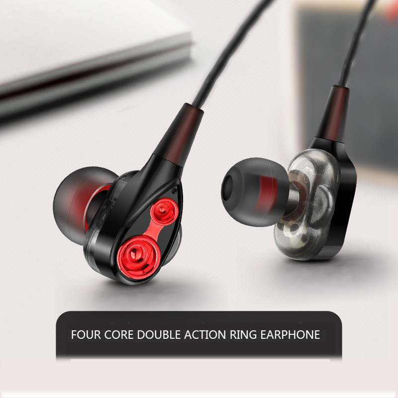 3.5mm Wired earphone High bass Dynamic stereo In-Ear Earphones With Microphone Computer earbuds For Cell phone fone de ouvido(China)