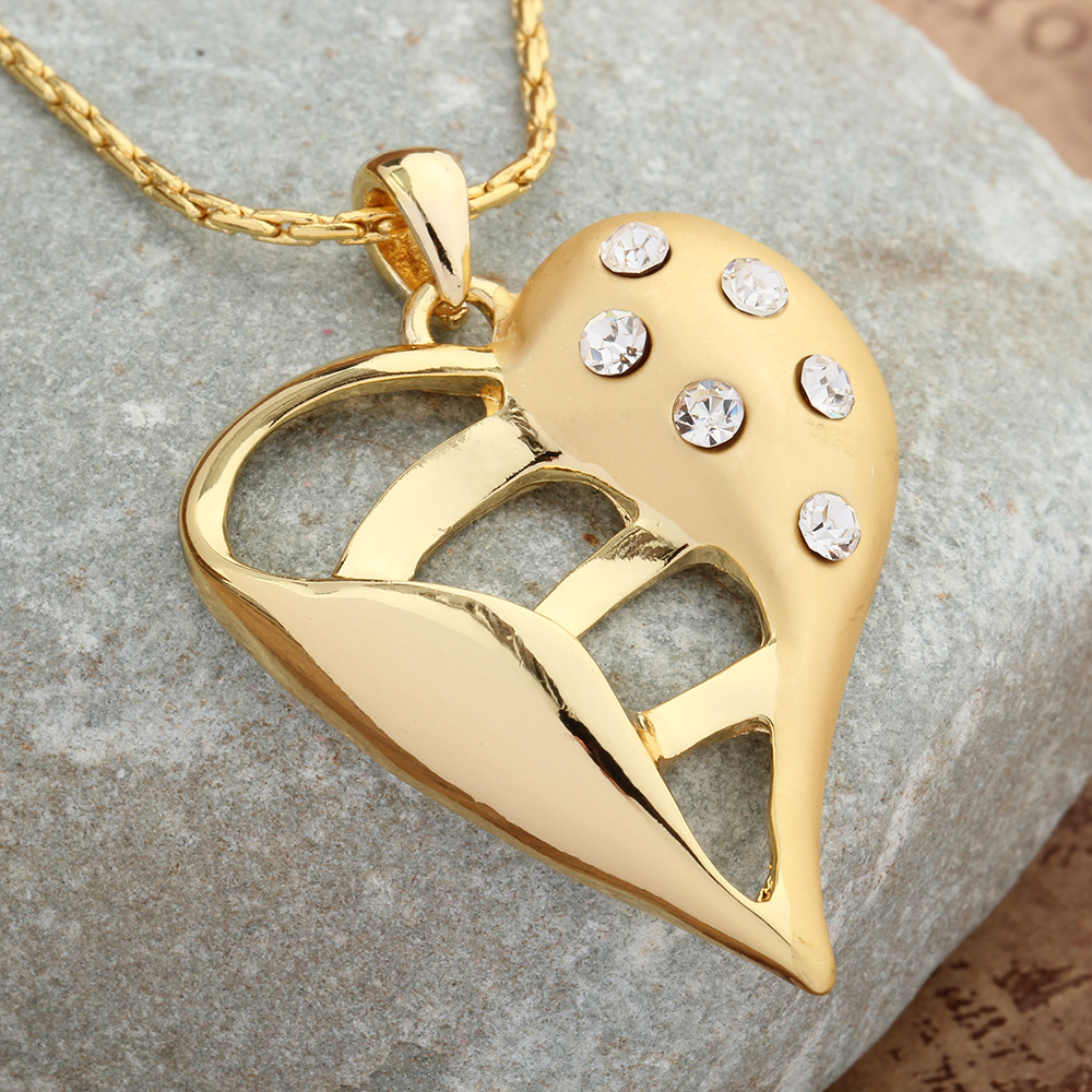 fashion jewelry woman necklaces pendant collier flower gold ...