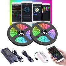 A cor 2811 do sonho conduziu a luz de tira com efeito de perseguição, jogo controlado app da luz da corda com fonte de alimentação e controlador de wifi sp108e