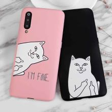 Cute Cartoon Cat Silicone Case For Samsung Galaxy J4 J6 Plus J7 Duo J2 Core A8 A9 Star A9 A7 J8 J6 J3 2018 Cover Coque Fundas(China)