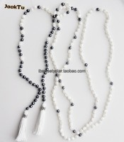 new design long mother of pearl necklace tassels for wedding