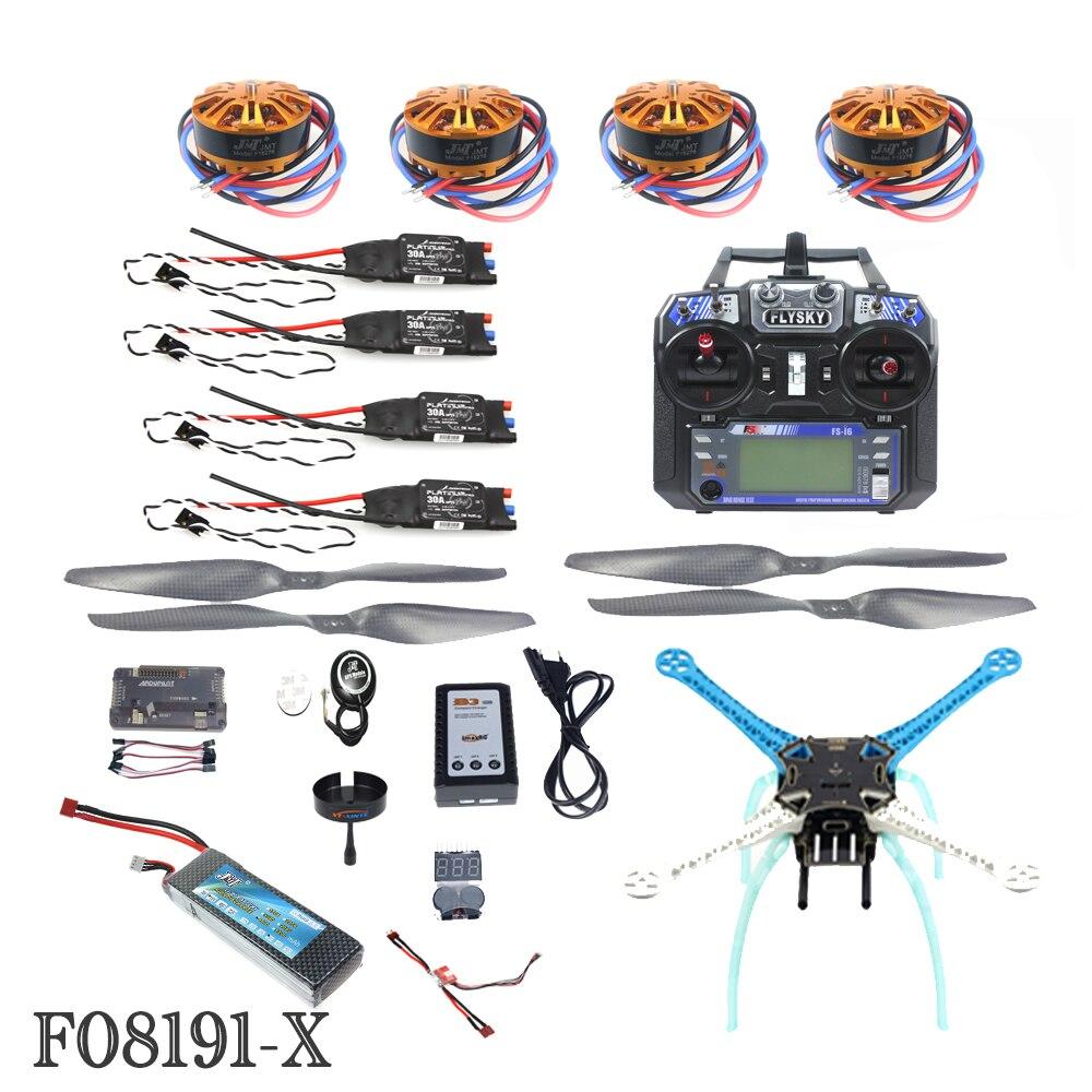 JMT 2.4G 6ch RC Quadcopter Drone 500mm S500-PCB APM2.8 M8N GPS RTF Full Kit DIY Unassembly Brushless Motor ESC Battery F08191-X