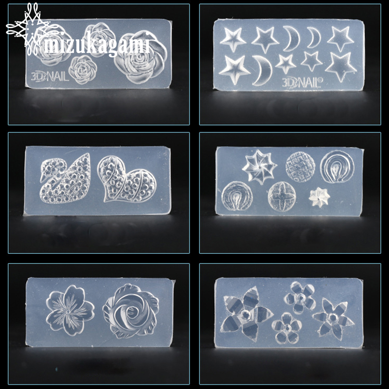 1pcs UV Resin Jewelry Liquid Silicone Mold Flowers Stars Moon Resin Charms Molds For DIY Intersperse Decorate Making Jewelry