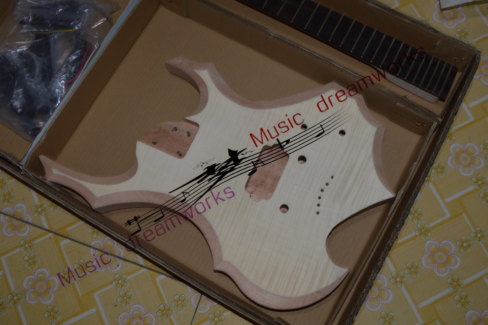 China OEM firehawk shop custom Electric Guitar Semi-finished guitar, unfinished, personal DIY image