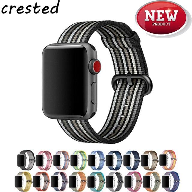 c0afaa4418b CRISTA Tecido nylon strap Para apple watch band 42mm 38mm esporte pulseira  de pulso pulseira banda
