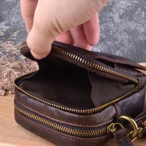 Image 2 - AETOO מזדמן אמיתי תיק עור קטן כתף תיק מיני תיק גברים של עור אמיתי בציר שמן מקסימום שליח תיק