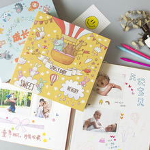 Baby DIY Photo Album Childrens Growth Commemorative Book Kindergarten Record Manual Sheet Film