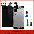 Black for Iphone 5C LCD display touch screen digitizer with bezel frame+home botton+front camera full assembly with free tools