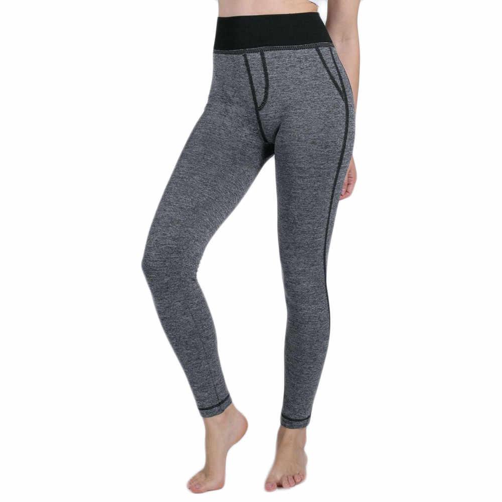ec71ce5a479a61 Perimedes Women False yoga pants Pocket Gym Yoga Running Fitness Leggings  Pants Athletic Stretchy Leggings Seamless