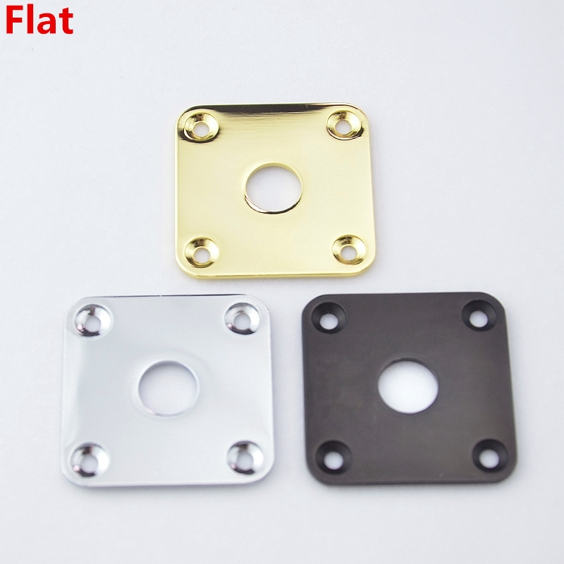 1 Piece GuitarFamily  Square Flat  Metal Jack Plate For Electric Guitar  Bass  ( #0456 ) MADE IN KOREA