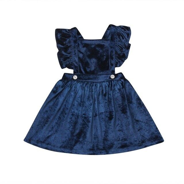 Newborn Toddler Kids Baby Girl Clothes Princess Dress Solid Warm Pageant Party  Autumn Spring Dresses Girls vestido  YL1 79bdf7df5adf